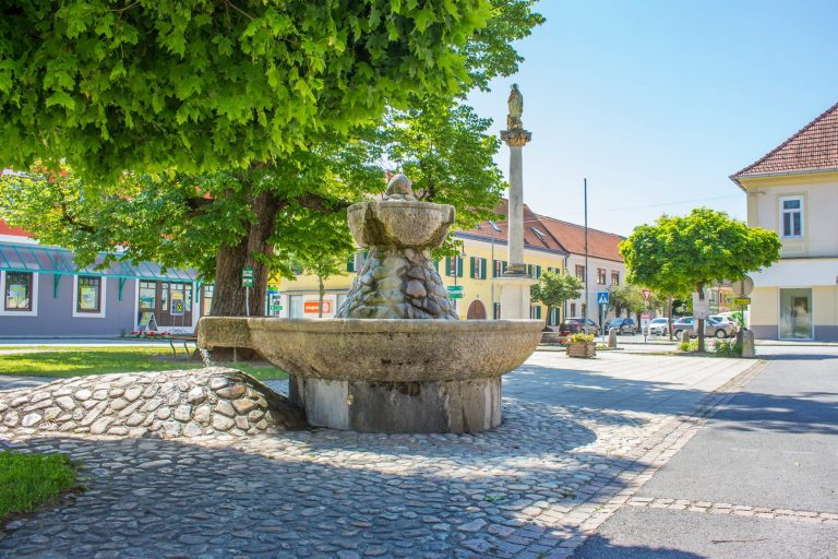 Brunnen Hauptplatz Burgau