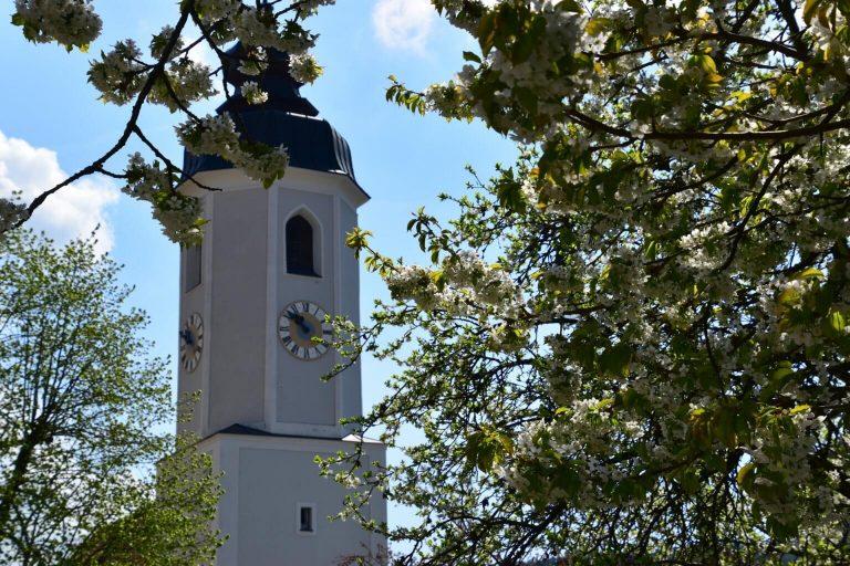 Kirchturm in Miesenbach
